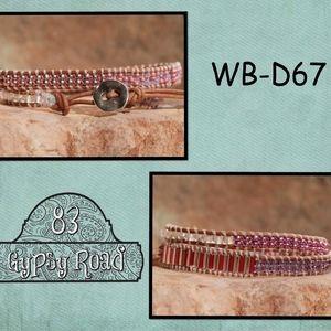 WB-D67 beaded double wrap bracelet
